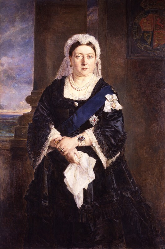 Queen Victoria, by Lady Julia Abercromby, after  Heinrich von Angeli, 1883, based on a work of 1875 - NPG 708 - © National Portrait Gallery, London