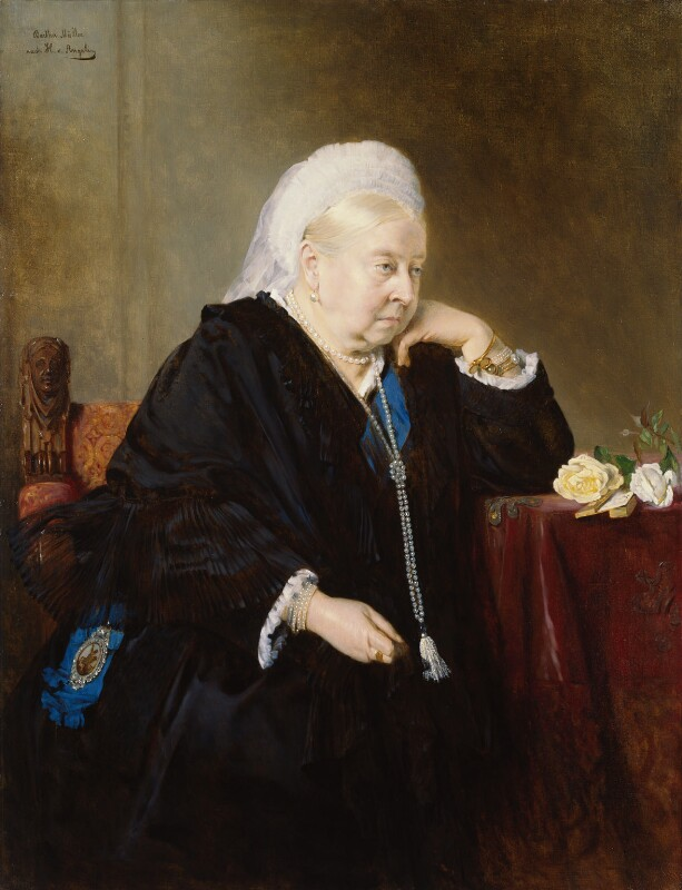Queen Victoria, by Bertha Müller, after  Heinrich von Angeli, 1900, based on a work of 1899 - NPG 1252 - © National Portrait Gallery, London
