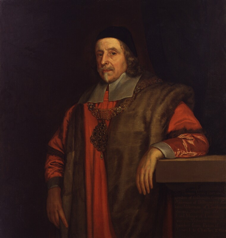 Sir Thomas Vyner, 1st Bt, by Unknown artist,  - NPG 4509 - © National Portrait Gallery, London