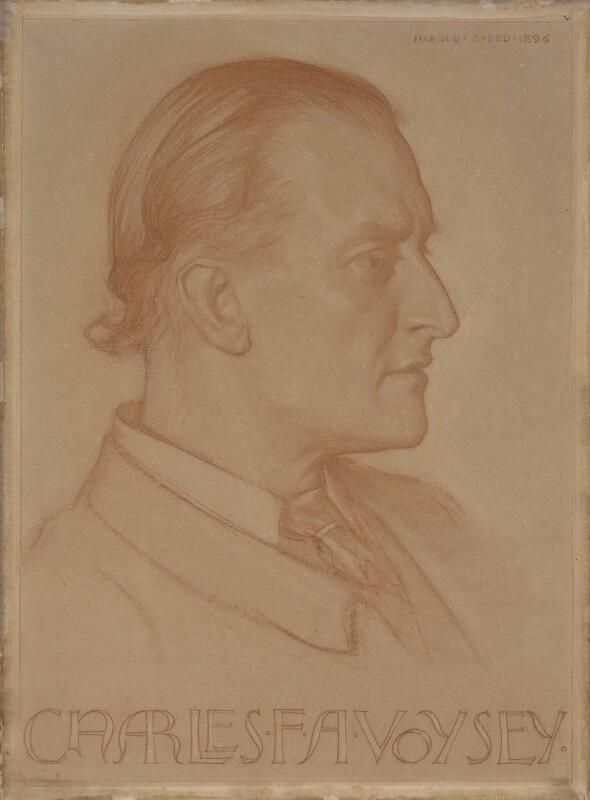 Charles Francis Annesley Voysey, by Harold Speed, 1896 - NPG 4116 - © National Portrait Gallery, London
