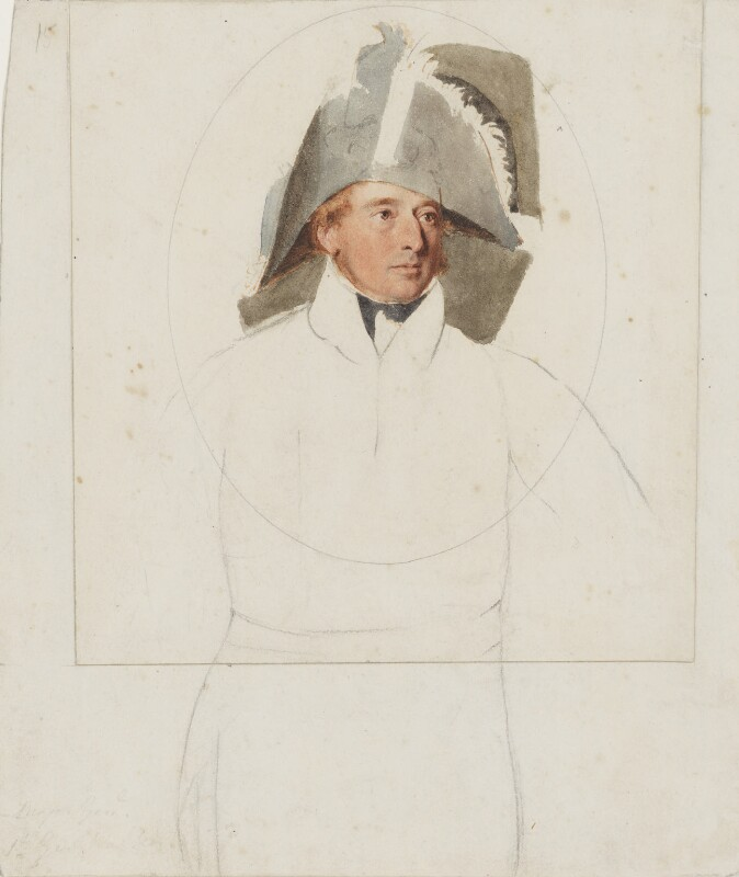Sir George Townshend Walker, 1st Bt, by Thomas Heaphy, 1813-1814 -NPG 1914(16) - © National Portrait Gallery, London