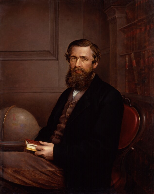 Alfred Russel Wallace, by Thomas Sims, mid 1860s - NPG 1765 - © National Portrait Gallery, London