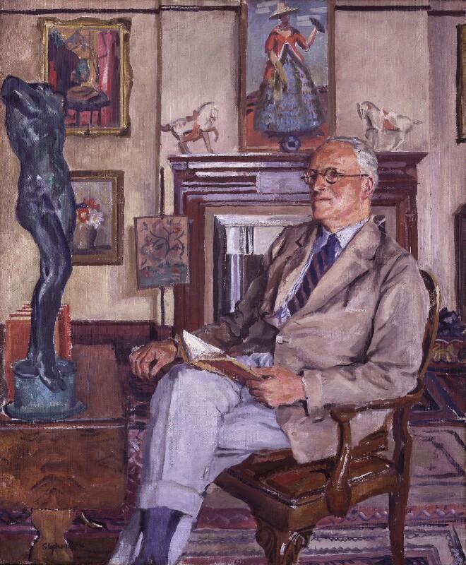 Sir Hugh Walpole, by Stephen Bone, late 1930s? - NPG 3841 - © estate of Stephen Bone
