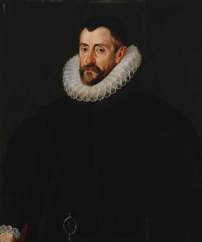 Sir Francis Walsingham, attributed to John De Critz the Elder, circa 1589 - NPG 1807 - © National Portrait Gallery, London