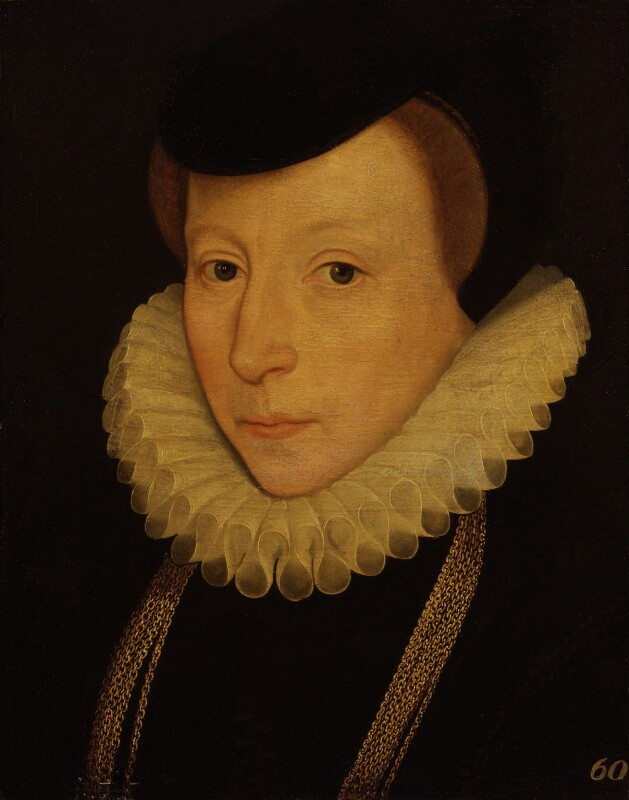 Unknown woman, formerly known as Ursula (née St Barbe), Lady Walsingham, by Unknown artist, 1583 - NPG 1705 - © National Portrait Gallery, London