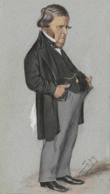Edward Matthew Ward, by Sir Leslie Ward, published in Vanity Fair 20 December 1873 - NPG 2746 - © National Portrait Gallery, London