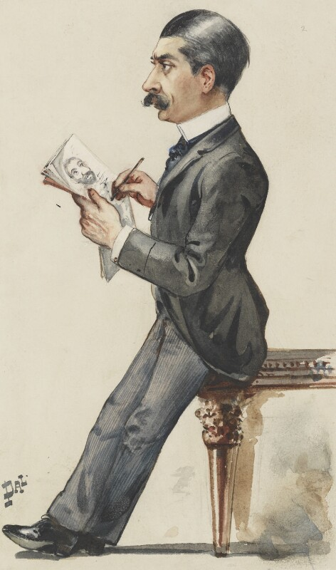 Sir Leslie Ward, by Jean de Paleologu '(PAL'), 1889 -NPG 3007 - © National Portrait Gallery, London