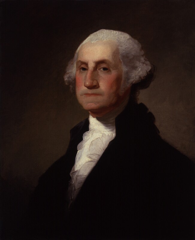 George Washington, by Gilbert Stuart, probably 19th century, based on a work of 1796 - NPG 2041 - © National Portrait Gallery, London