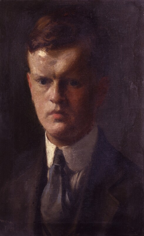 Unknown man, formerly known as Evelyn Waugh, by Unknown artist, circa 1918-1919 - NPG 5218 - © National Portrait Gallery, London