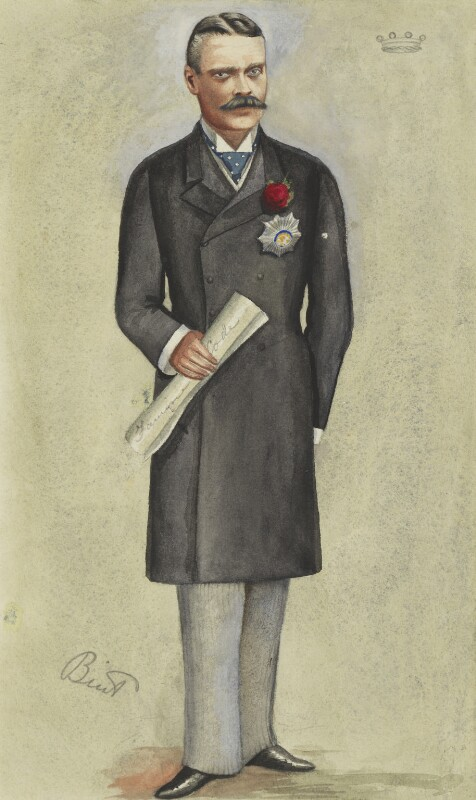 Beilby Lawley, 3rd Baron Wenlock, by Hon. Mary Catherine Rees (née Dormer) ('MR' and 'Bint'), published in Vanity Fair 28 January 1893 - NPG 2971 - © National Portrait Gallery, London