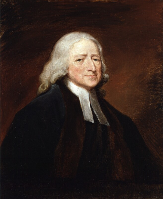 John Wesley, by George Romney, based on a work of circa 1789 -NPG 2366 - © National Portrait Gallery, London