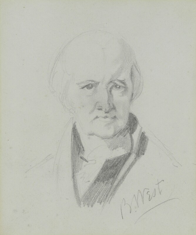 Benjamin West, by Charles Hutton Lear, circa 1845 -NPG 1456(26) - © National Portrait Gallery, London