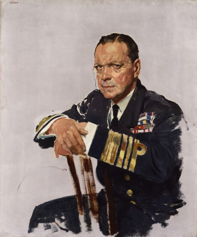Rosslyn Erskine Wemyss, Baron Wester Wemyss, by Sir William Orpen, 1919 - NPG 4182 - © National Portrait Gallery, London