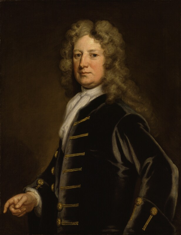 Thomas Wharton, 1st Marquess of Wharton, by Sir Godfrey Kneller, Bt, circa 1715 - NPG 3233 - © National Portrait Gallery, London