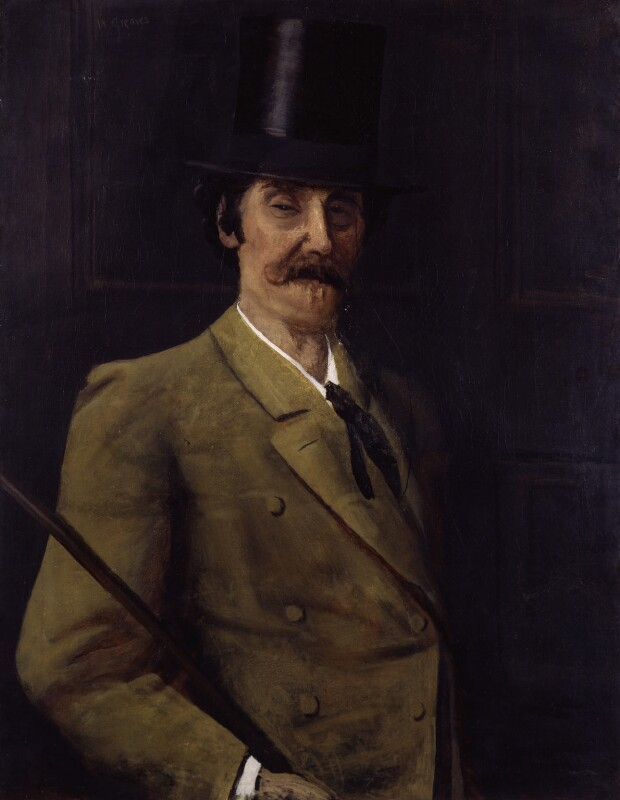 James Abbott McNeill Whistler, by Walter Greaves,  - NPG 4497 - © National Portrait Gallery, London