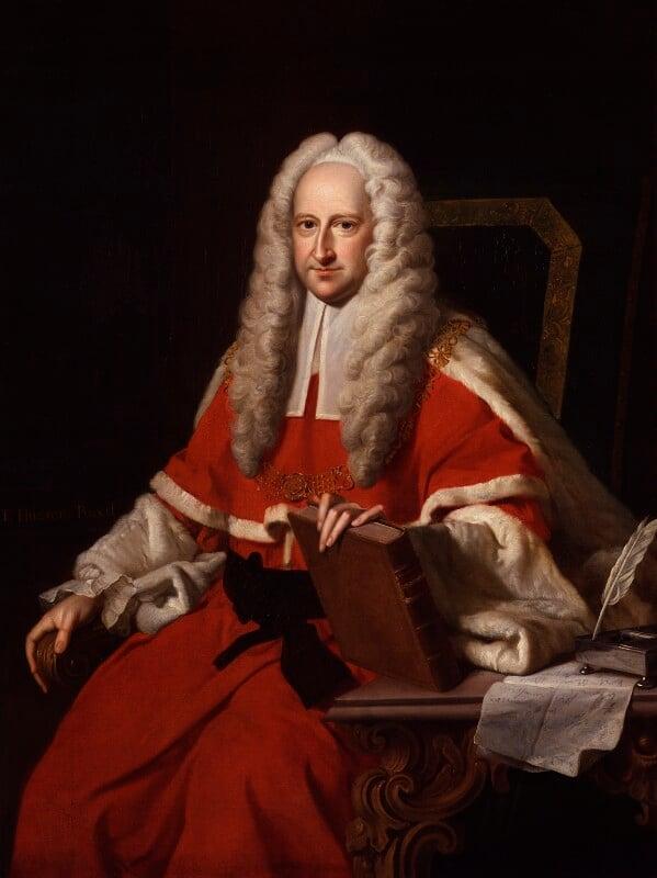 Sir John Willes, by Thomas Hudson, engraved 1744 - NPG 484 - © National Portrait Gallery, London
