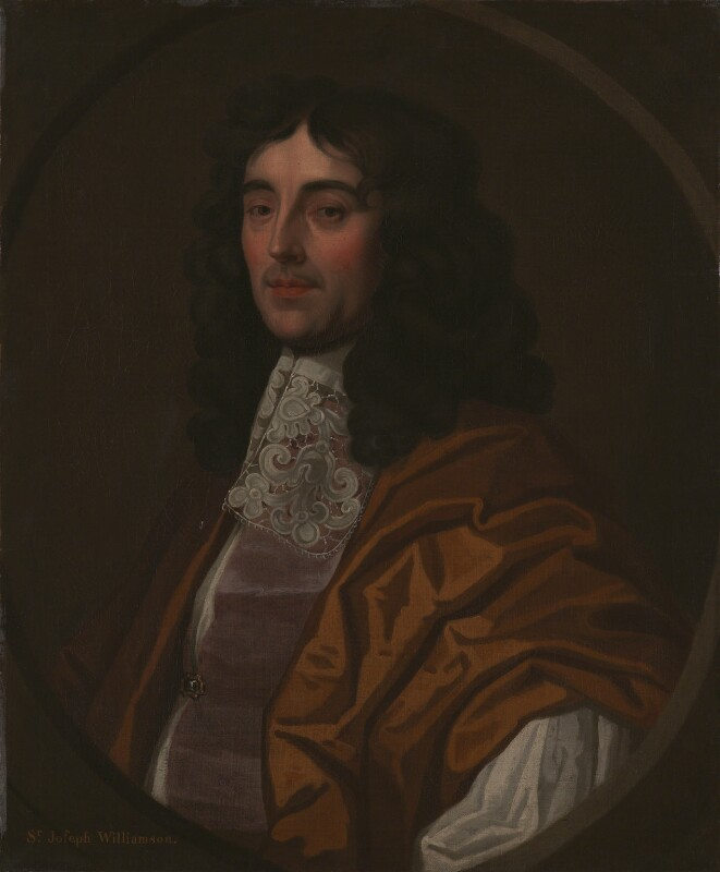 Sir Joseph Williamson, style of Sir Peter Lely, based on a work of circa 1665 - NPG 1100 - © National Portrait Gallery, London