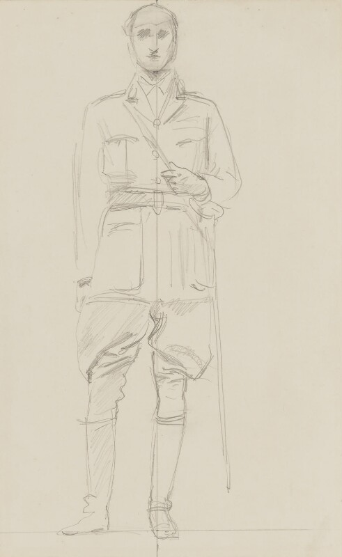 Sir Henry Hughes Wilson, 1st Bt, by John Singer Sargent, circa 1922 - NPG 2908(13) - © National Portrait Gallery, London
