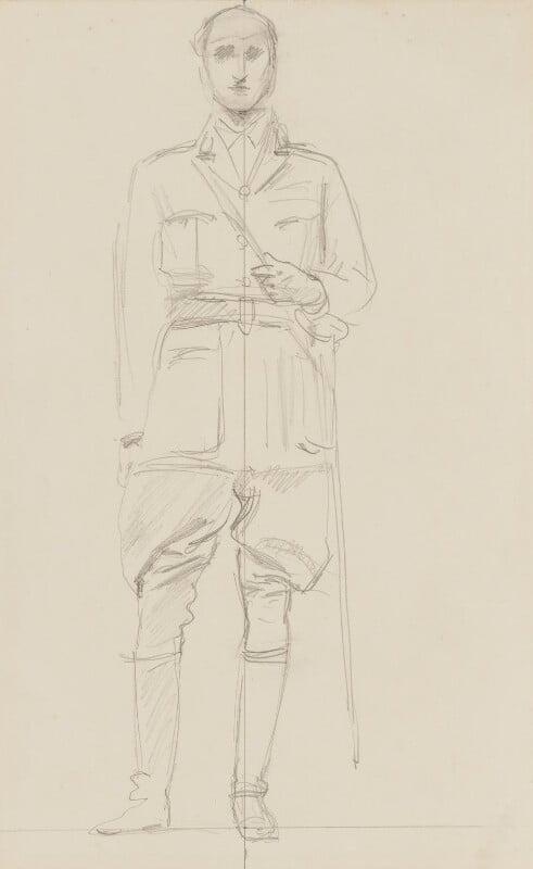 Sir Henry Hughes Wilson, 1st Bt, by John Singer Sargent, circa 1922 - NPG 2908(13) - © National Portrait Gallery, London