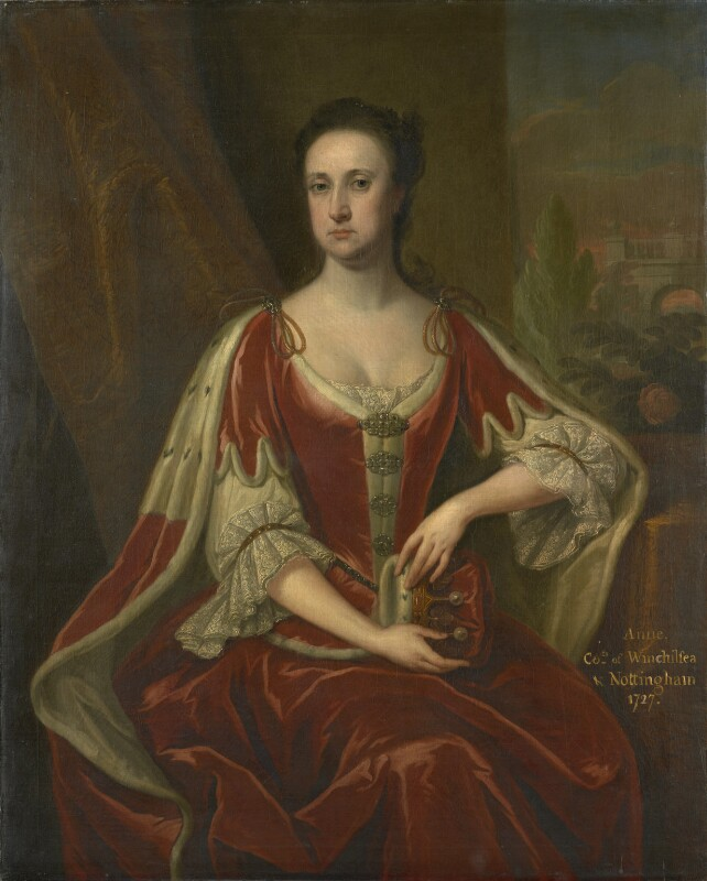 Anne Hatton, Countess of Winchilsea, attributed to Jonathan Richardson, circa 1727 - NPG 3622a - © National Portrait Gallery, London