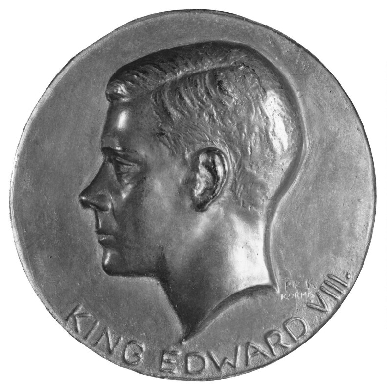 Prince Edward, Duke of Windsor (King Edward VIII), by Fred Kormis, 1975, based on a work of 1936 - NPG 5051 - Photograph © National Portrait Gallery, London