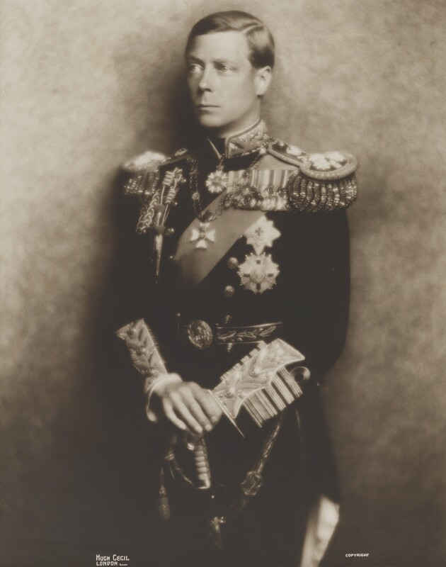 Prince Edward, Duke of Windsor (King Edward VIII), by Hugh Cecil (Hugh Cecil Saunders), 1936 - NPG P136 - © reserved; collection National Portrait Gallery, London
