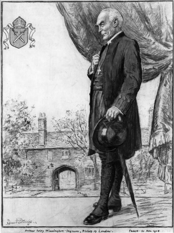 Arthur Foley Winnington-Ingram, by Sir (John) Bernard Partridge, published in Punch 21 November 1928 - NPG 4970 - Reproduced with permission of Punch Ltd