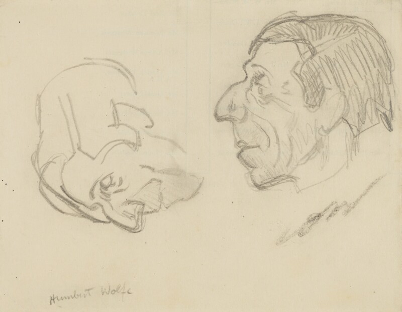Humbert Wolfe, by Sir David Low, 1930s? - NPG 4529(396) - © Solo Syndication Ltd