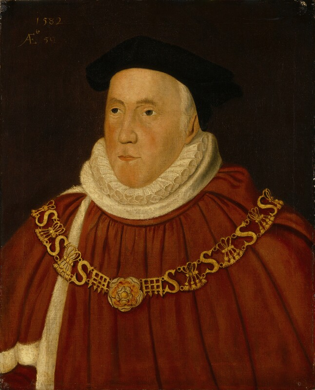 Sir Christopher Wray, after Unknown artist, 17th century, based on a work of 1582 - NPG 1484 - © National Portrait Gallery, London