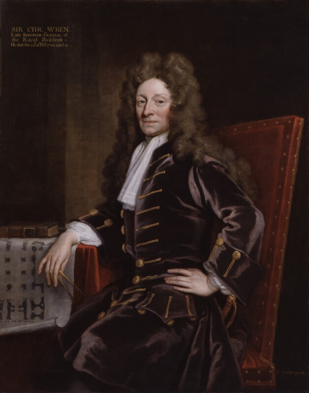 Sir Christopher Wren, by Sir Godfrey Kneller, Bt, 1711 -NPG 113 - © National Portrait Gallery, London