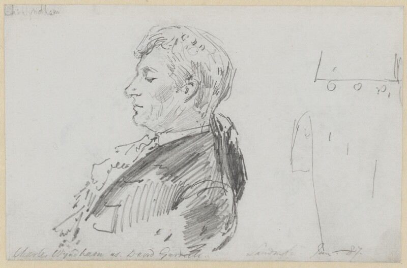 Sir Charles Wyndham (Charles Culverwell), by Sydney Prior Hall, 1887 -NPG 2373 - © National Portrait Gallery, London