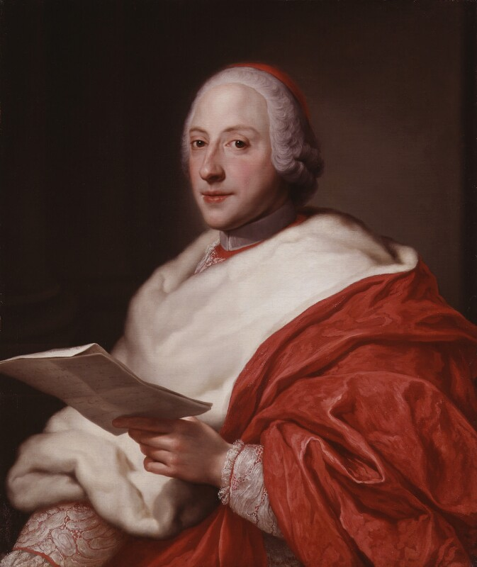 Henry Benedict Maria Clement Stuart, Cardinal York, circle of Anton Raphael Mengs, circa 1750 - NPG 129 - © National Portrait Gallery, London