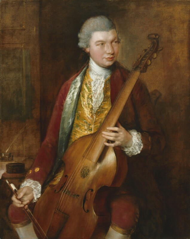 Karl Friedrich Abel, by Thomas Gainsborough, circa 1765 - NPG 5947 - © National Portrait Gallery, London