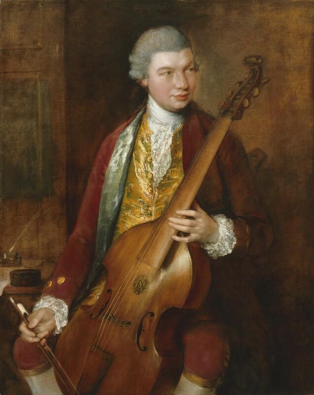 Karl Friedrich Abel, by Thomas Gainsborough, circa 1765 - NPG 5947 - © National Portrait Gallery, London
