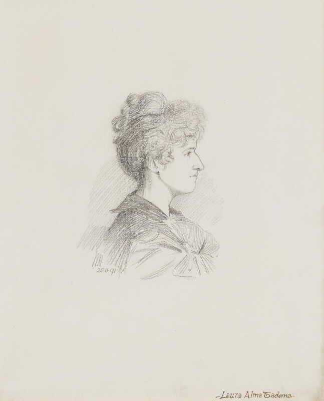Laura Theresa (née Epps), Lady Alma-Tadema, by Walker Hodgson, 1891 -NPG 5898 - © National Portrait Gallery, London