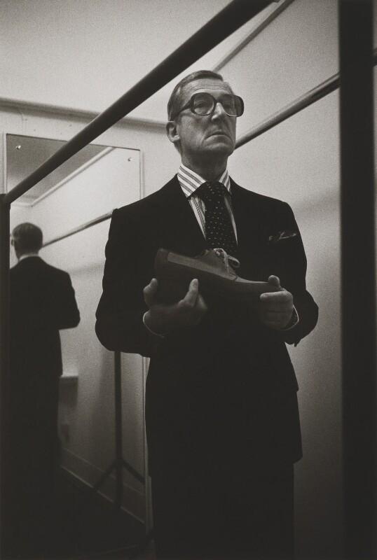 Sir Hardy Amies, by Brian Griffin, 1976 - NPG P405 - © Brian Griffin