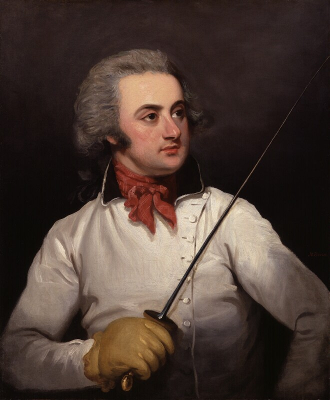 Henry Charles William Angelo, by Mather Brown, circa 1790 -NPG 5310 - © National Portrait Gallery, London