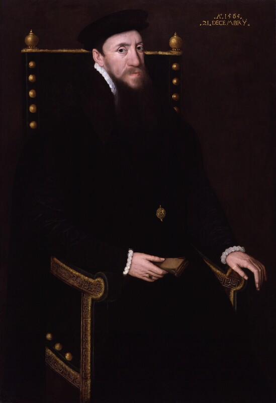 Henry Fitzalan, 12th Earl of Arundel, by Unknown Anglo-Netherlandish artist, 1565 - NPG 5296 - © National Portrait Gallery, London