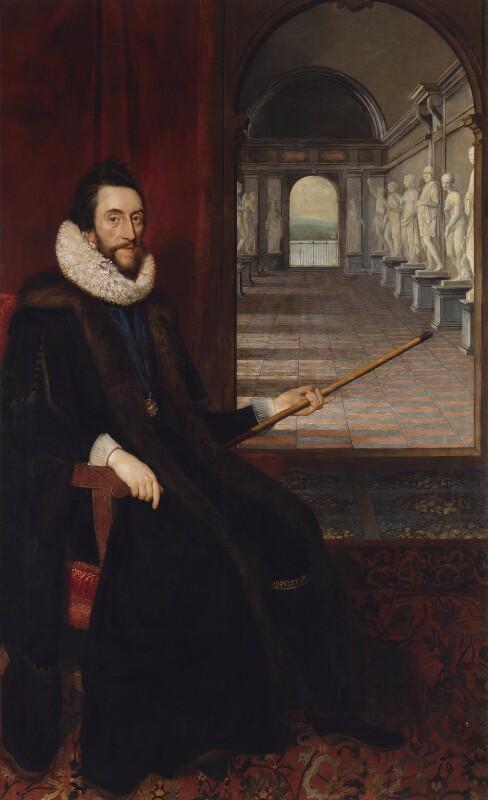 Thomas Howard, 14th Earl of Arundel, by Daniel Mytens, circa 1618 - NPG 5292 - © National Portrait Gallery, London