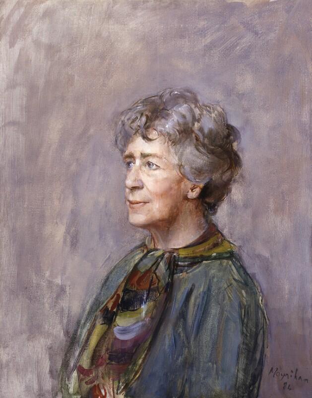 Dame Peggy Ashcroft, by Rodrigo Moynihan, 1984 - NPG 5712 - © National Portrait Gallery, London