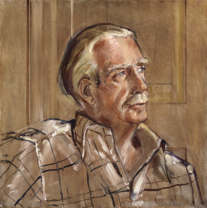 Anthony Eden, 1st Earl of Avon, by (Arthur) Derek Hill, 1974 - NPG 5775 - © National Portrait Gallery, London