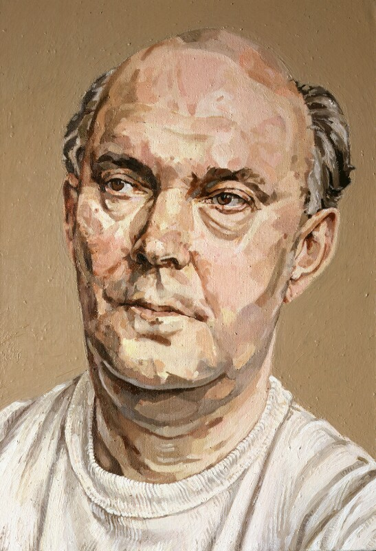 Sir Alan Ayckbourn, by Allan Ramsay, 1989 - NPG 6074 - © National Portrait Gallery, London