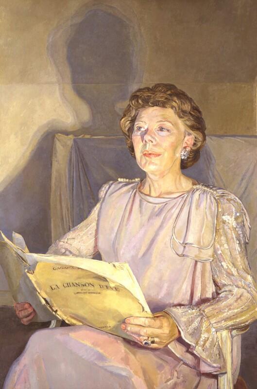 Janet Baker, by Daphne Todd, 1987 - NPG 5987 - © National Portrait Gallery, London