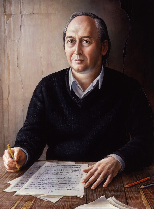 J.G. Ballard, by Brigid Marlin, 1987 - NPG 6557 - © National Portrait Gallery, London