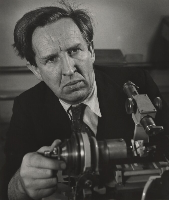 John Desmond Bernal, by Wolfgang Suschitzky, 14 April 1949 - NPG P304 - © Wolfgang Suschitzky / National Portrait Gallery, London