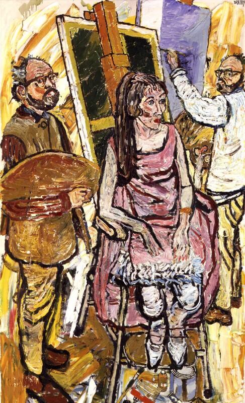 John Randall Bratby; Josephine ('Joey') Pleasence (née Crombie), by John Randall Bratby, 1967 - NPG 6555 - © estate of John Bratby / Bridgeman Art Library www.bridgemanart.com