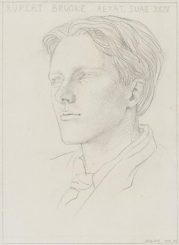 Rupert Brooke, by Gwen Raverat, 1910 - NPG 5817 - © National Portrait Gallery, London