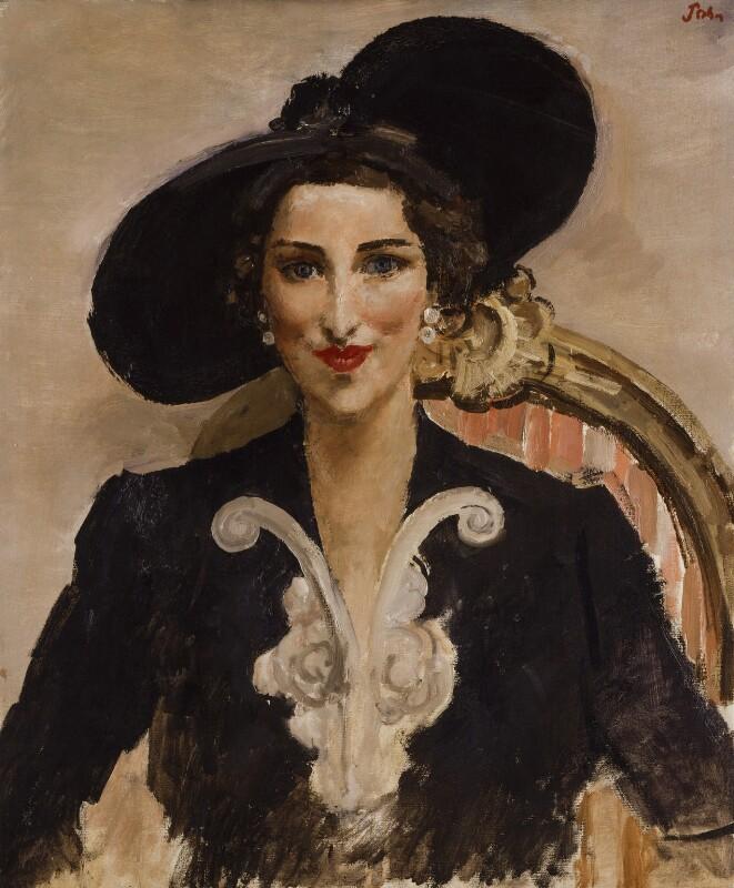 Dorothy Rose Burns (née Duveen), by Augustus John, 1940s? - NPG 5942 - © estate of Augustus John / Bridgeman Art Library www.bridgemanart.com