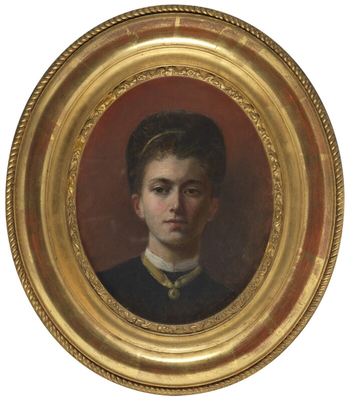 Elizabeth Southerden (née Thompson), Lady Butler, by Elizabeth Southerden (née Thompson), Lady Butler, 1869 - NPG 5314 - © National Portrait Gallery, London