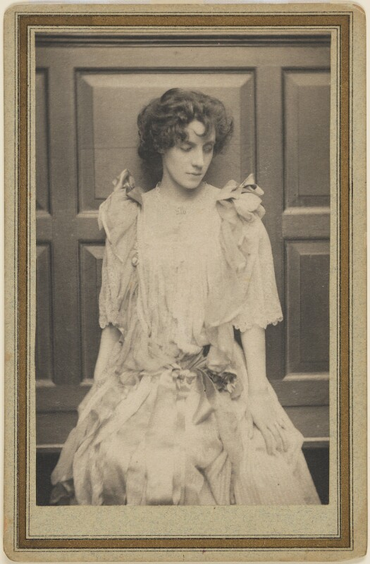 Mrs Patrick Campbell, by Frederick Hollyer, 1893 -NPG P229 - © National Portrait Gallery, London